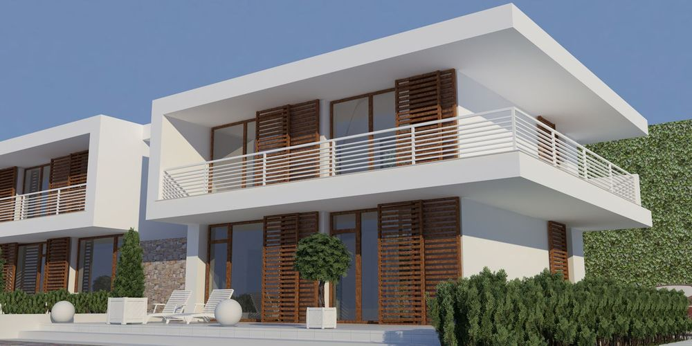 rendering villa
