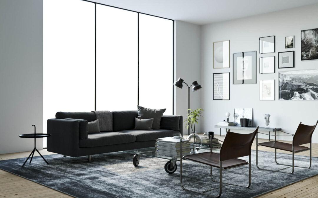rendering salotto moderno