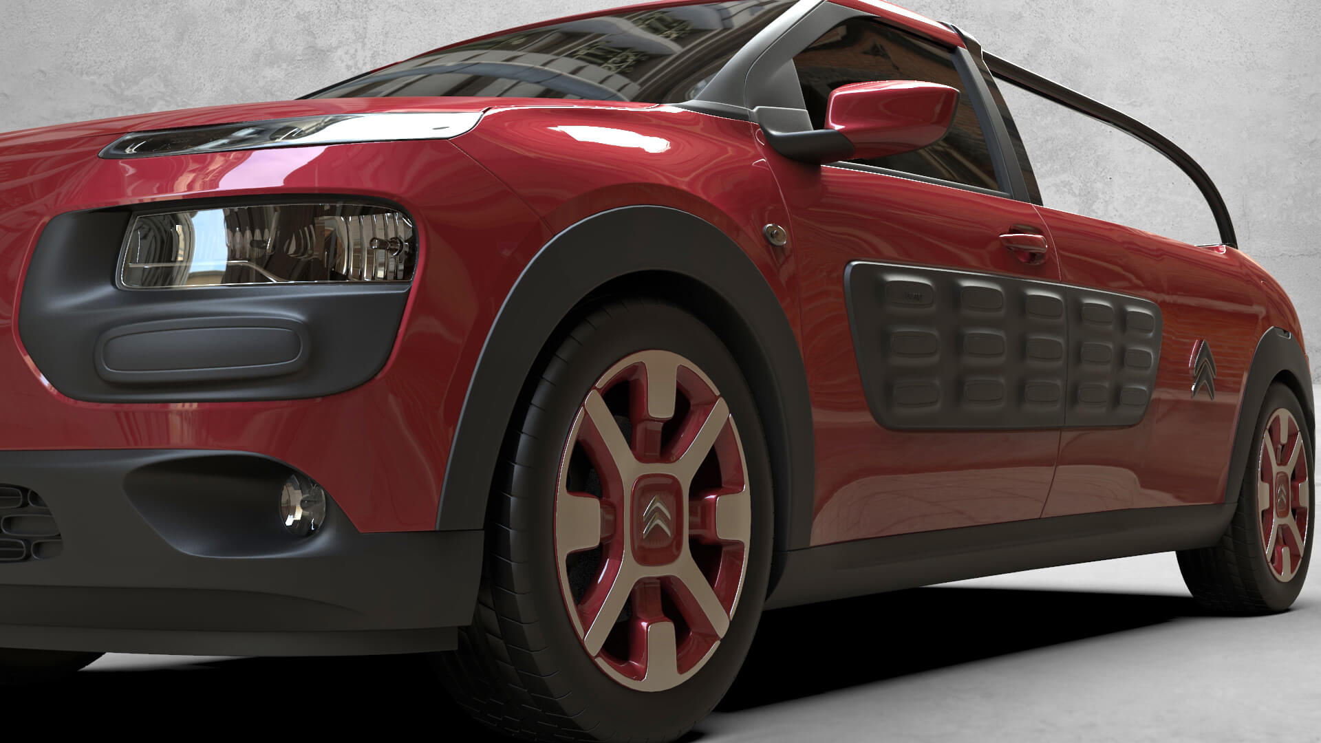 rendering citroen cactus pick-up