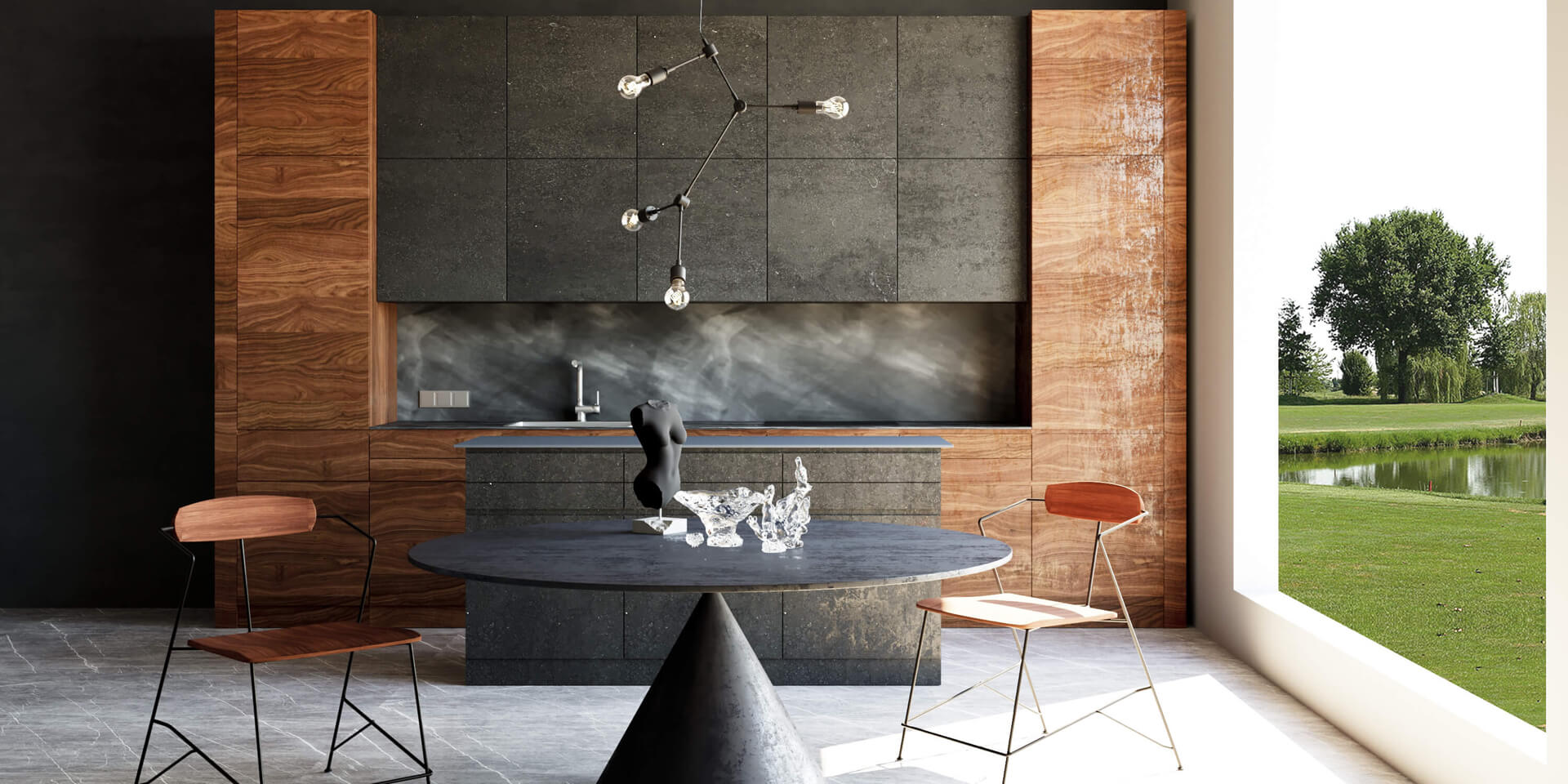 rendering cucina moderna