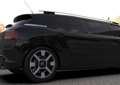 rendering citroen cactus limousine