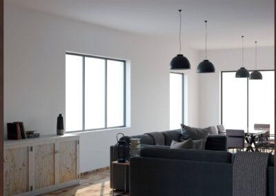 rendering fotorealistico di interni di una villa in sicilia