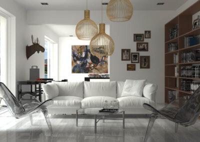 rendering salotto living