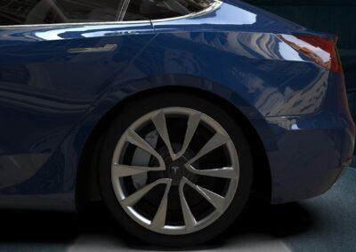 rendering tesla model 3