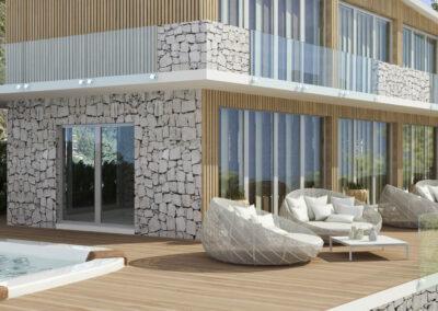 rendering fotoreliastico rendering villa sul lago